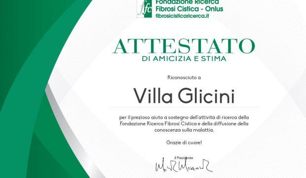villa_glicini_attestato_fibrosi_ringraziamento_2